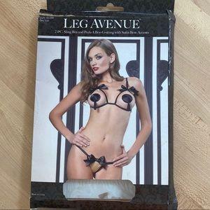 Leg Avenue Peek-A-Boo Lingerie set - ONE SIZE
